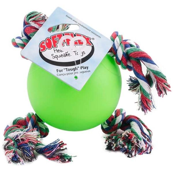"Green - Soft Flex Tuggy Ball 3.5"""