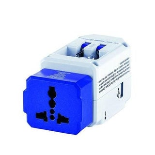 Travel Smart By Conair All-In-One Adapter With Usb; 3 Outlets; Us, Europe, Uk, Italy, Spain, China