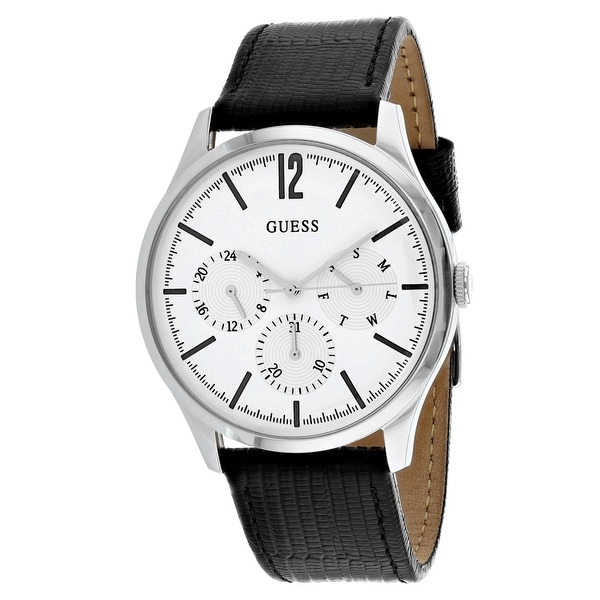 a809ad16f Shop Guess Men's Regent W1041G4 White Dial Watch - Free Shipping Today -  Overstock - 24204679