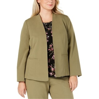 Link to Nine West Womens Open Front Blazer Jacket, Green, 3X Similar Items in Suits & Suit Separates
