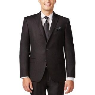 Tallia Orange Slim Fit Black and Burgundy Check Sportcoat Blazer 44 Regular 44R