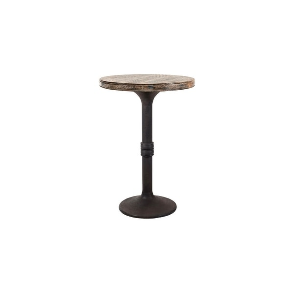 """Sadie 30"""" Round Bar Table. Opens flyout."""