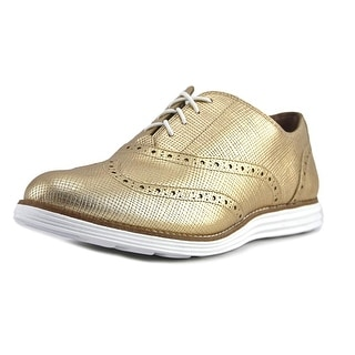 Cole Haan Original Grand Wng II Women Gold Mtlc/White Oxfords