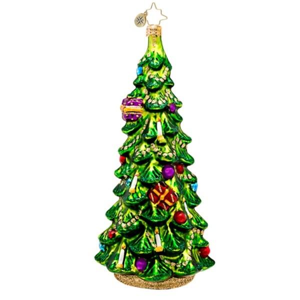 Christopher Radko Glass Christmas Glow Spruce Tree Holiday Ornament #1017468 - green
