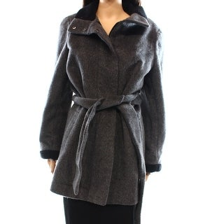 Lauren Ralph Lauren NEW Gray Women's Size 12 Full-Zipped Coat Wool