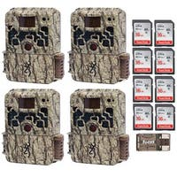 Browning Strike Force Extreme Game Camera (4) with 16GB Card (8) and Reader - Camouflage