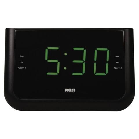 RCA RC442A Dual Wake USB Charging Clock Radio - Black
