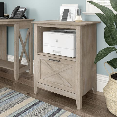 Key West Lateral File Cabinet with Shelf by Bush Furniture