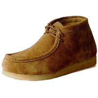Roper Western Shoes Mens Chukka Lace Up Suede Sand