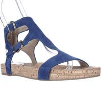 Via Spiga Lamuela Ankle Strap Flat Sandals, Cobalt
