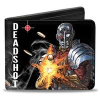 Deadshot Jla Issue #7.1 Point And Shoot Cover Pose Targets Bullets Bi Fold Bi-Fold Wallet - One Size Fits most