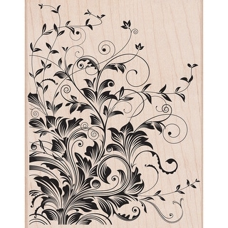 """Hero Arts Mounted Rubber Stamp 4.5""""X5.75""""-Leafy Vines"""