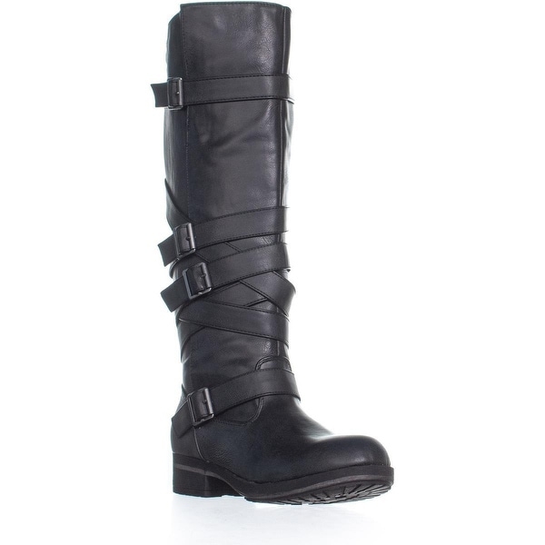bdb58141c38 Shop madden girl Lilith Buckle Knee High Zip Up Boots