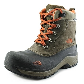 The North Face Chilkat Lace Youth Round Toe Leather Brown Hiking Boot