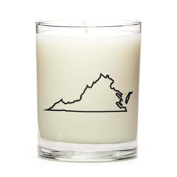 State Outline Soy Wax Candle, Virginia State, Lavender