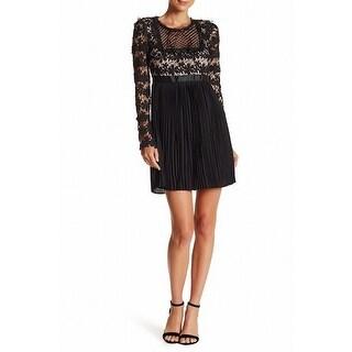 Romeo & Juliet Couture NEW Black Women's Size Medium M Pleated Dress