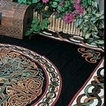 Handmade 100% Cotton Celtic Wheel of Life Tapestry Bedspread Twin 70x104 and Full 88x104 in Black Tan & Black Purple colors - Thumbnail 9