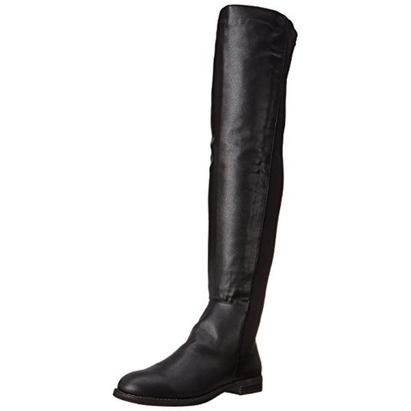 Penny Loves Kenny Womens Dalton Faux Leather Pull On Over-The-Knee Boots