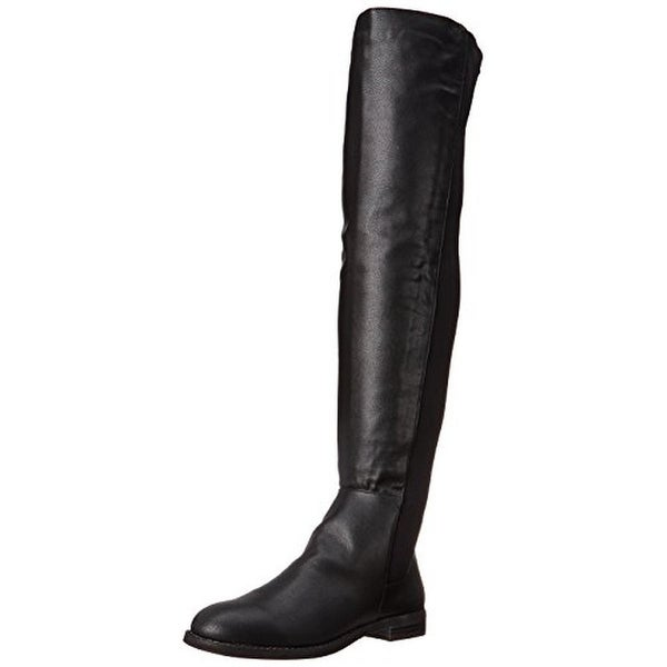 Penny Loves Kenny Womens Dalton Faux Leather Riding Over-The-Knee Boots