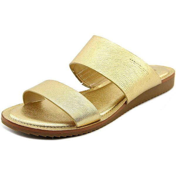 Michael Michael Kors Millie Slide Open Toe Leather Slides Sandal