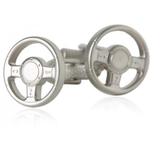 Steering Wheel Driver Driving Cufflinks