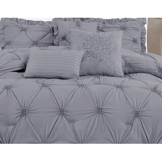Link to Premium Microfiber Down Alternative Quilted 7 Piece Comforter Set Similar Items in Comforter Sets