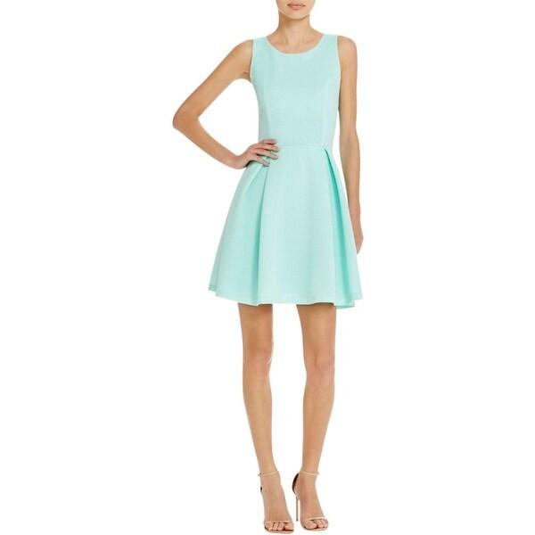 Aqua Womens Party Dress Box Pleat Fit & Flare
