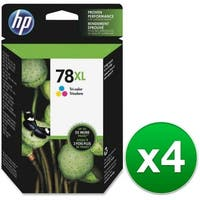 HP 78XL High Yield Tri-color Original Ink Cartridge (C6578AN) (4-Pack)