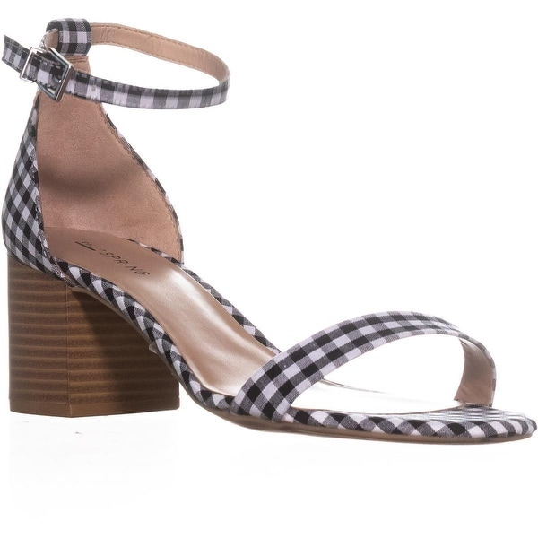 Call It Spring Stangarone Ankle Strap Sandals, Black Plaid