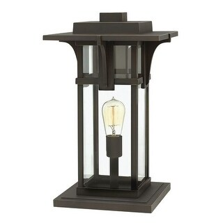 Hinkley Lighting 2327 1 Light Pier Mount Light from the Manhattan Collection - Oil Rubbed bronze