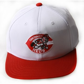 Cincinnati Reds MLB Adjustable Snapback Hat, White Red + GT Wristband