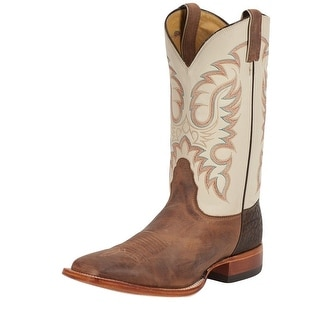 "Nocona Western Boots Mens Cowboy Leather Coyote Vintage 11"" Tan MD2735"