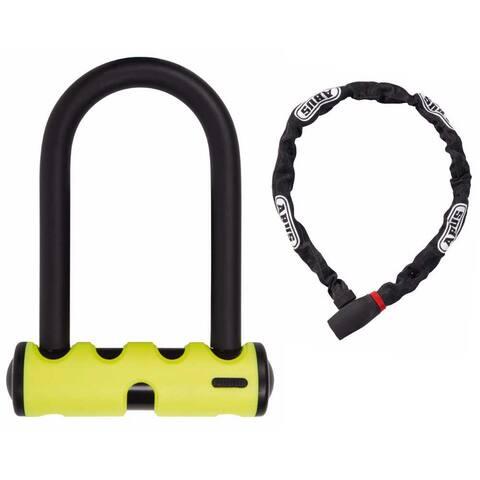 """ABUS Mini Round 5.5"""" Bike U-Lock and uGrip 585/75 Lock-Chain Combo"""