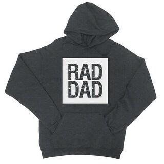 Rad Dad Unisex Cool Grey Fleece Hoodie