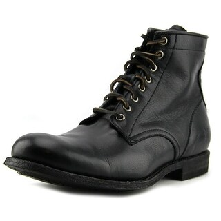 Frye Tyler Lace Up Men  Round Toe Leather Black Boot