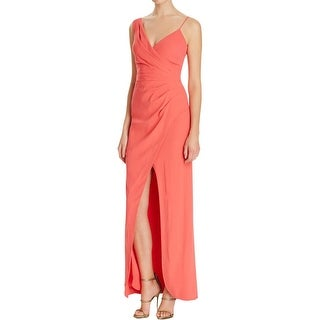 Nicole Miller Womens Evening Dress Crepe Wrap