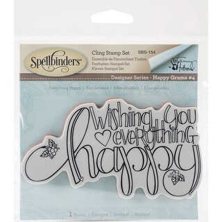 Spellbinder Happy Grams #4 Cling Stamps By Tammy Tutterow-Everything Happy