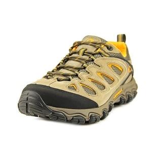 Merrell Pulsate Ventilator Men Round Toe Leather Tan Hiking Shoe