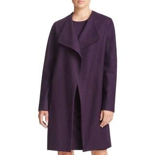 Elie Tahari Womens Coat Open Front Long Sleeves - S