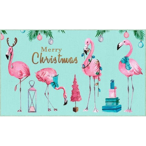 Mohawk Prismatic Merry Flamingos Area Rug