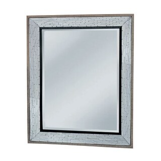 "Mirror Masters MG4510 Fredmont 40"" Rectangular Mirror with Decorative Frame"