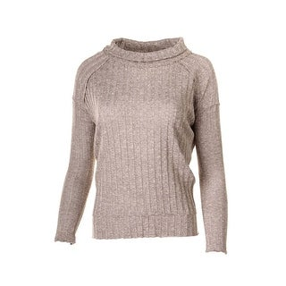 Free People Womens Marled Ribbed Knit Pullover Sweater - M