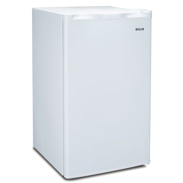Della Compact Refrigerator and Freezer, 3.2 cu ft, Reversible Door, White