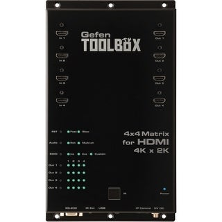 Gefen GTB-HD4K2K-444-BLK Gefen 4x4 Matrix for HDMI with Ultra HD 4K x 2K Support - 3840 × 2160 - 4 x 4 - 4 x HDMI Out
