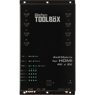 """Gefen GTB-HD4K2K-444-BLK Gefen 4x4 Matrix for HDMI with Ultra HD 4K x 2K Support - 3840 × 2160 - 4 x 4 - 4 x HDMI Out"""