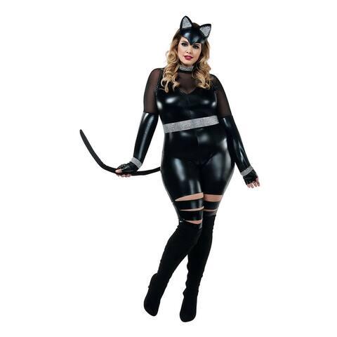 Plus Size Cat Burglar Costume - As Shown