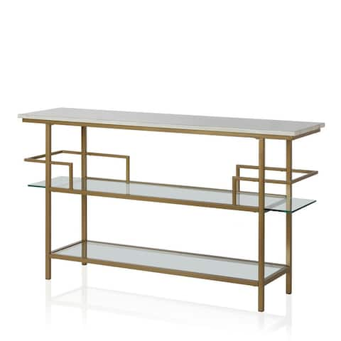 CosmoLiving by Cosmopolitan Barlow Soft Brass Console Unit