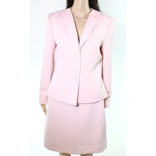 Tahari NEW Pink Women's Size 12P Petite Textured Blazer Skirt Set