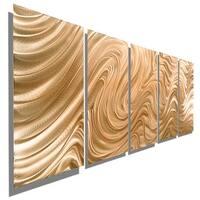 Statements2000 Copper Modern Abstract 3D Metal Wall Art Panels by Jon Allen - Copper Hypnotic Sands
