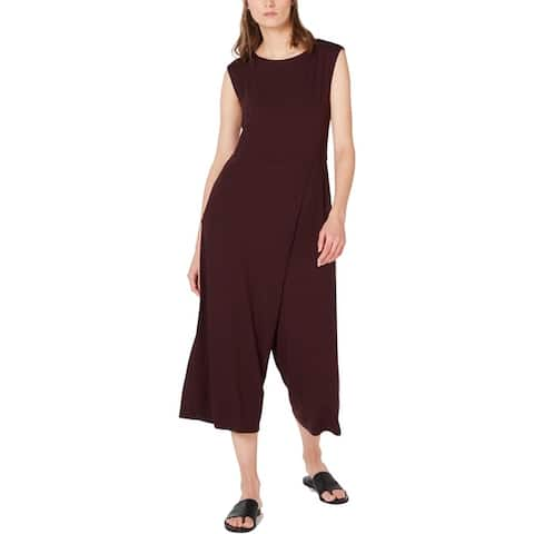 Eileen Fisher Womens Jumpsuit Cropped Faux Wrap